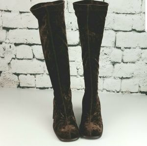 Antonio Eboli Italian Velour Boots Size 7